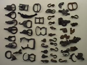 Lot of medieval spur parts